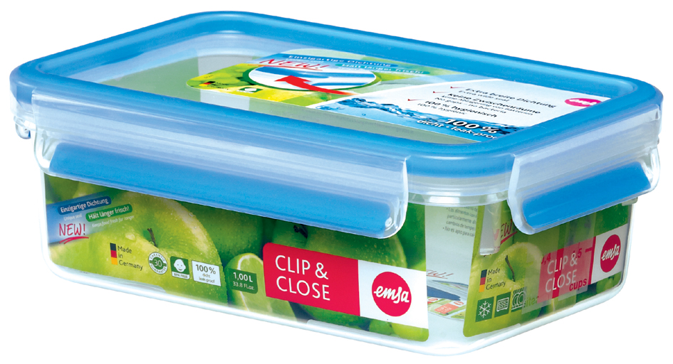 emsa Frischhaltedose CLIP & CLOSE, 0,80 Liter, transparent