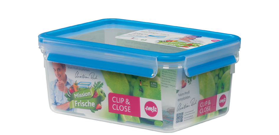emsa Frischhaltedose CLIP & CLOSE, 2,30 Liter, transparent