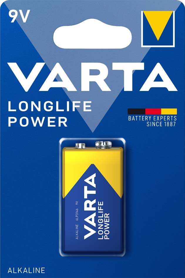 VARTA Alkaline Batterie ´LONGLIFE Power´, E-Block (9V/6LR61)