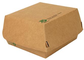 PAPSTAR Burgerbox ´pure´, Maße: 155 x 155 x 90 mm, extragroß