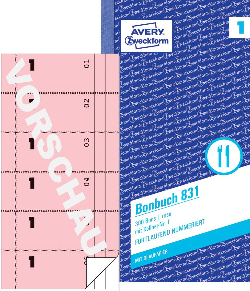 AVERY Zweckform formularbuch ´Bonbuch´, A4, gelb