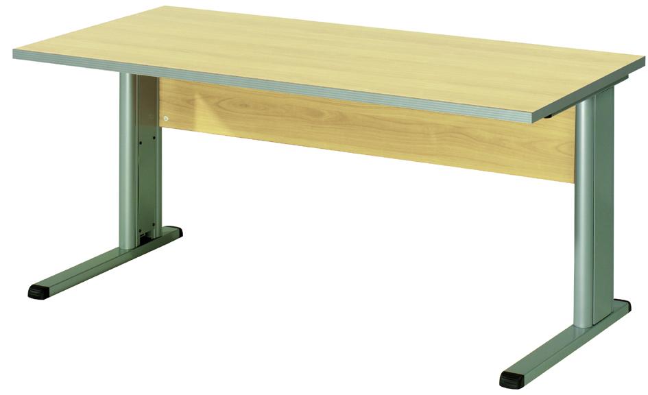 Wellemöbel Schreibtisch ´TOOL´, (B)1.600 mm, Office grau