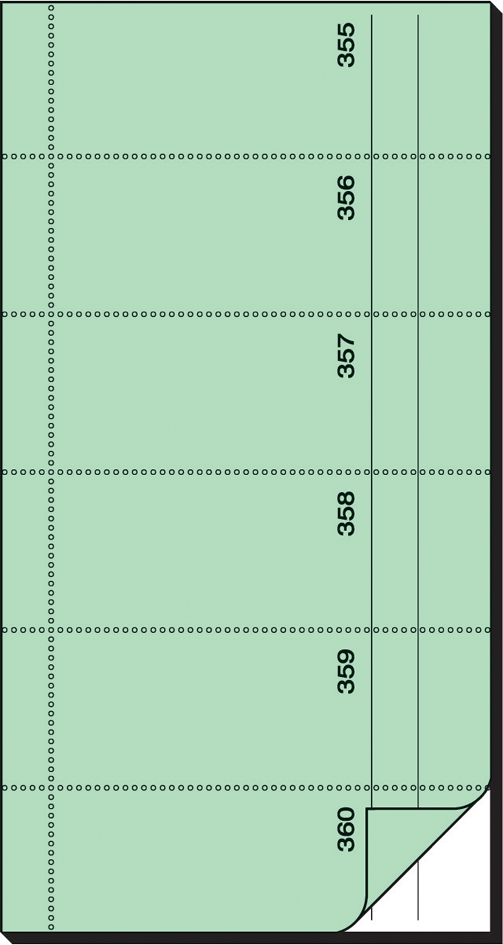 sigel Formularbuch ´Bonbuch´, 105 x 200 mm, hel...
