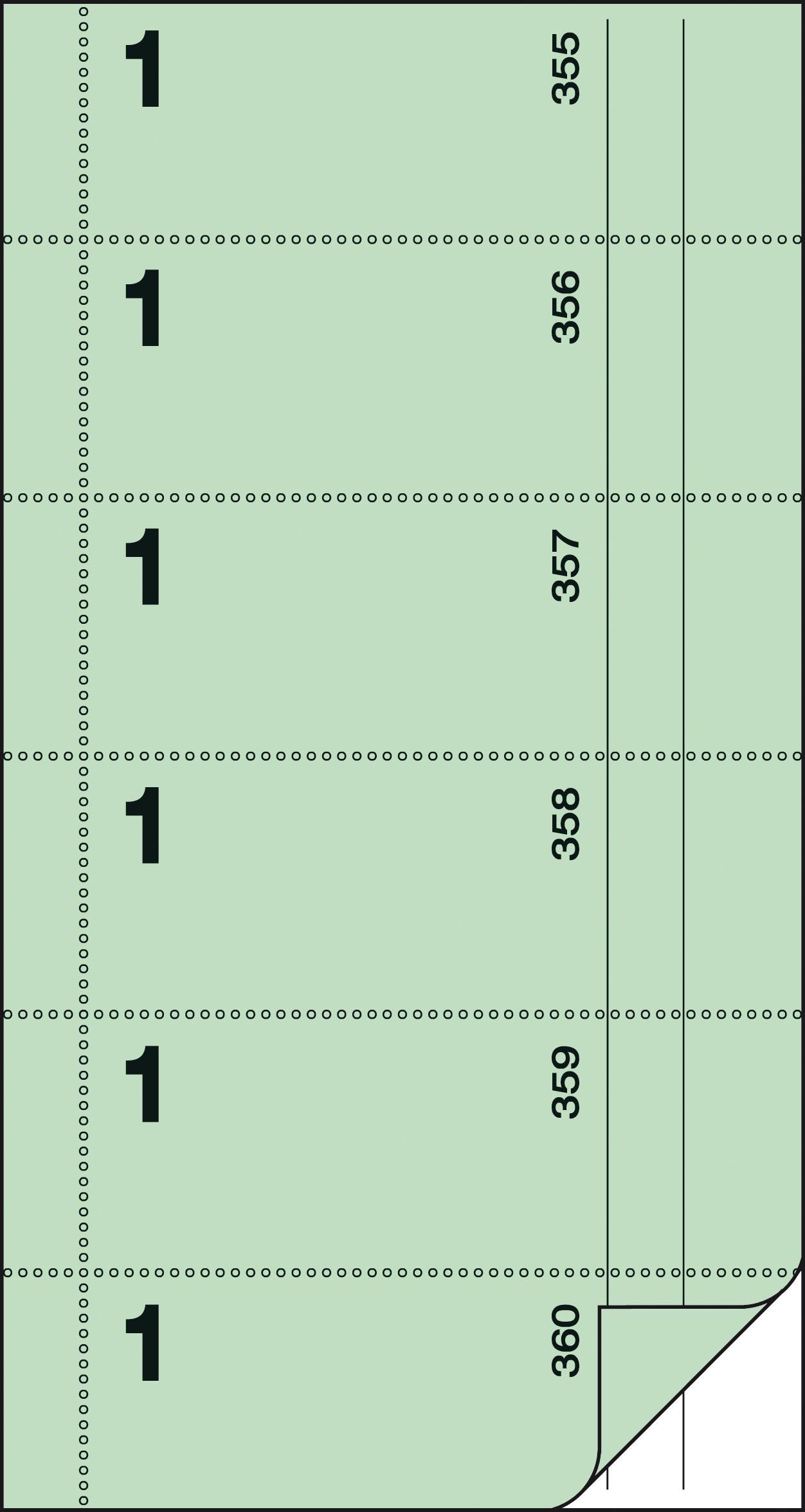 sigel Formularbuch ´Bonbuch´, 105 x 200 mm, gelb