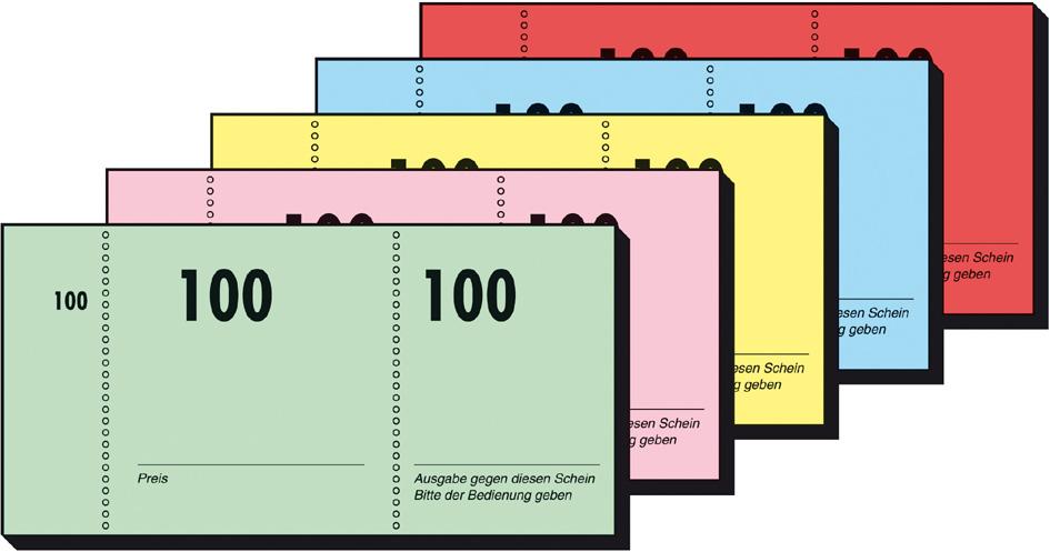 sigel Nummernblock 1-100, 105 x 50 mm, 100 Blatt