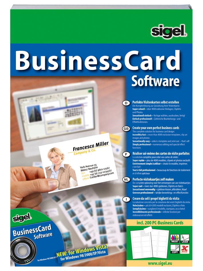 sigel BusinessCard Software ´Deutsch´, für Visi...