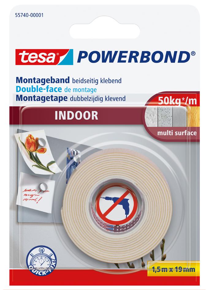 tesa Powerbond Montageband INDOOR, 38 mm x 5,0 m