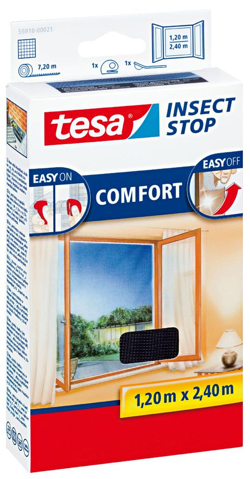 tesa Fliegengitter COMFORT für bodentiefe Fenster, weiß