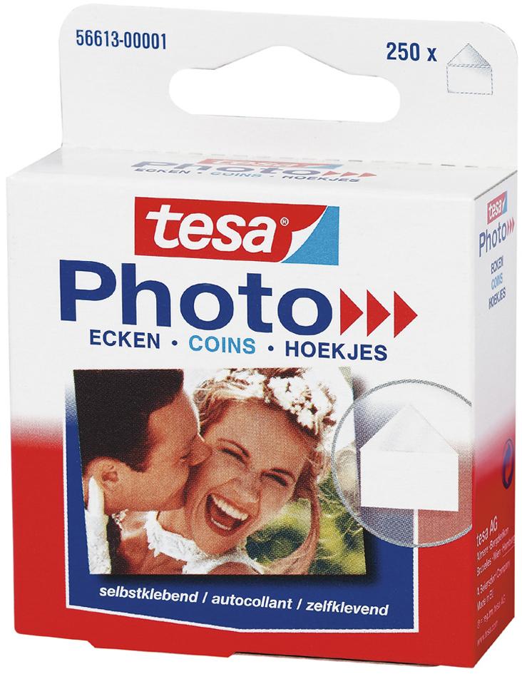 tesa Photo Foto-Ecken, transparent, selbstklebend