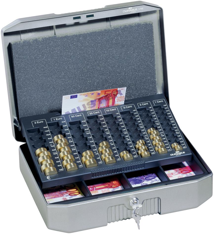 DURABLE Geldkassette EUROBOXX, (B)352 x (T)276 ...