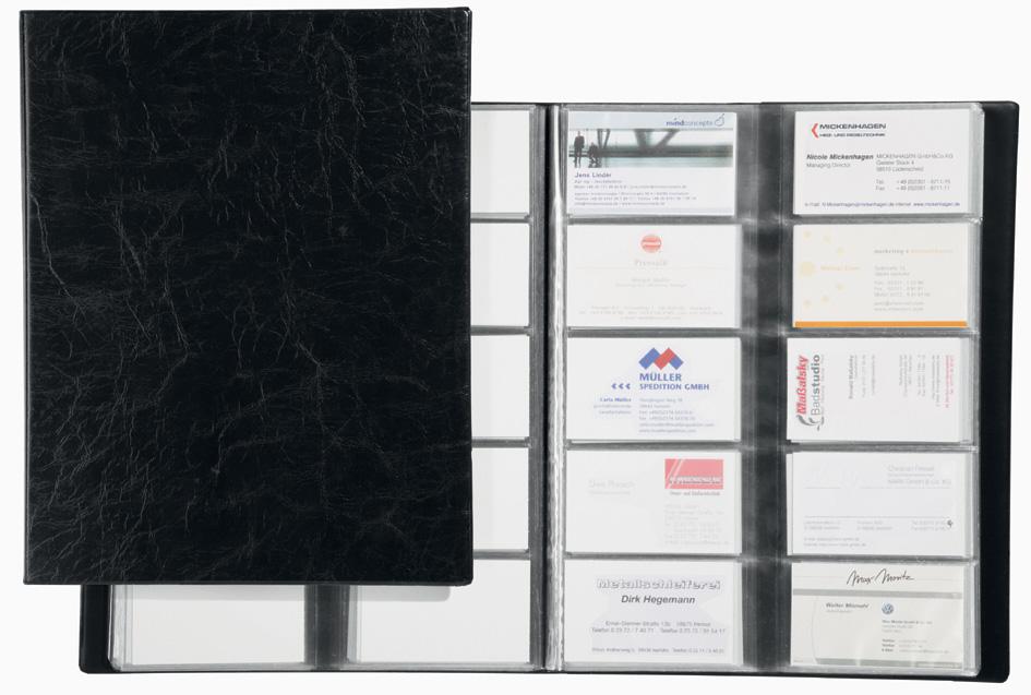 DURABLE Visitenkarten-Album VISIFIX, genarbte Folie, schwarz
