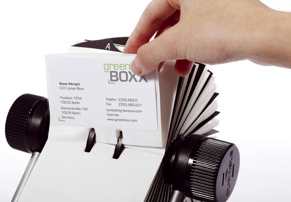 DURABLE Visitenkartenkartei VISIFIX, schwarz