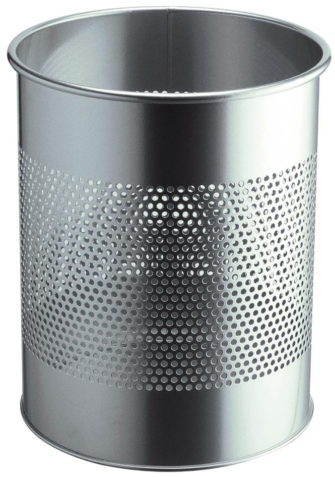 30 Liter Durable 330301 Papierkorb Metall Rund Schwarz