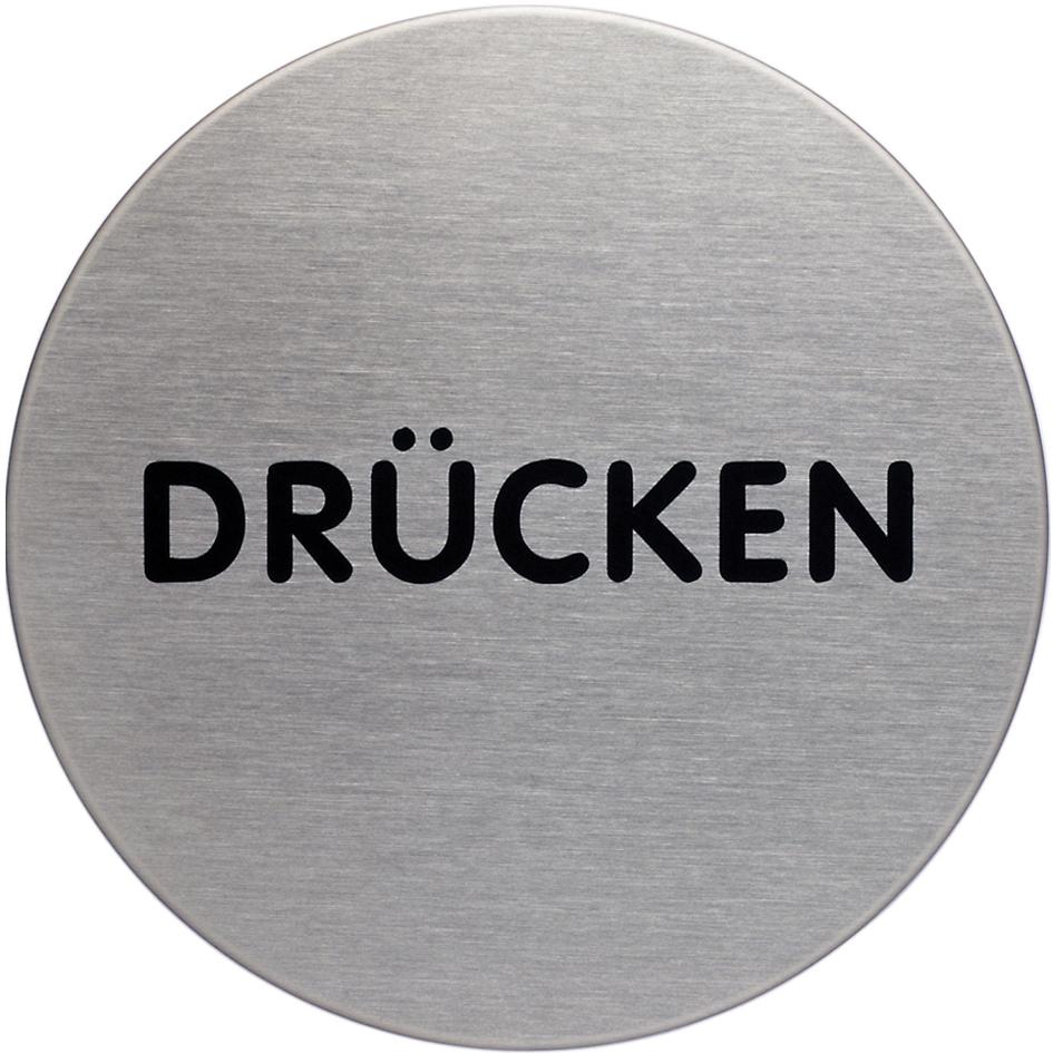 DURABLE Piktogramm ´Drücken´, Durchmesser: 65 m...