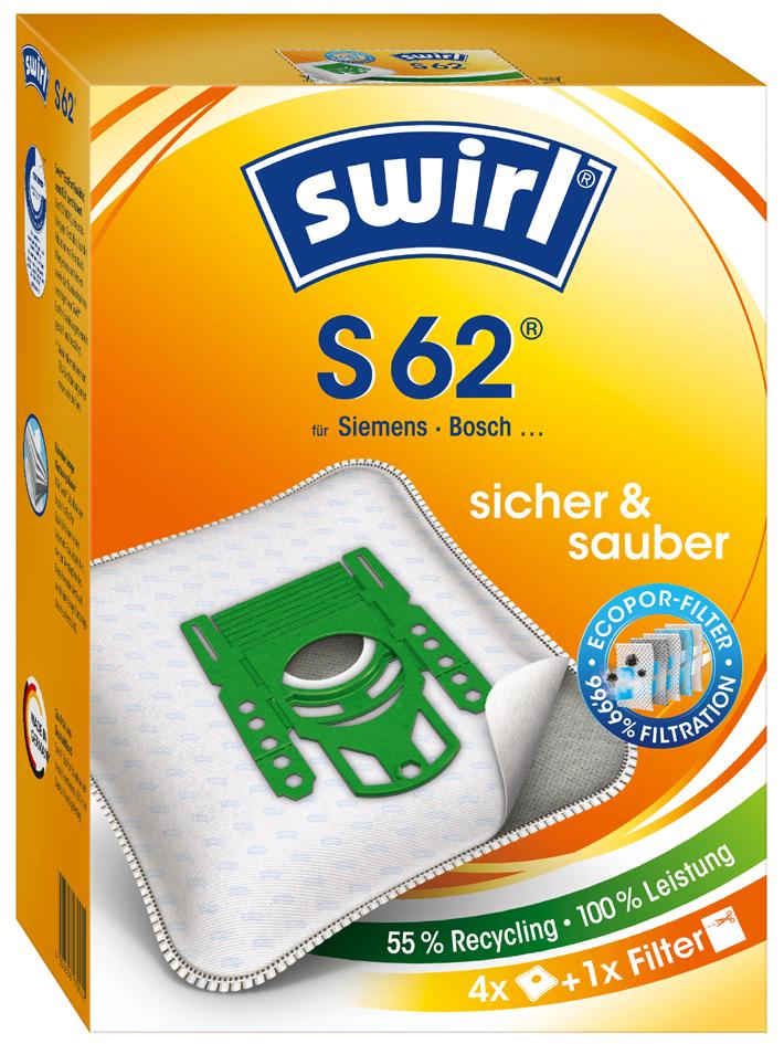 swirl Staubsaugerbeutel S 62, mit MicroporPlus-Filter