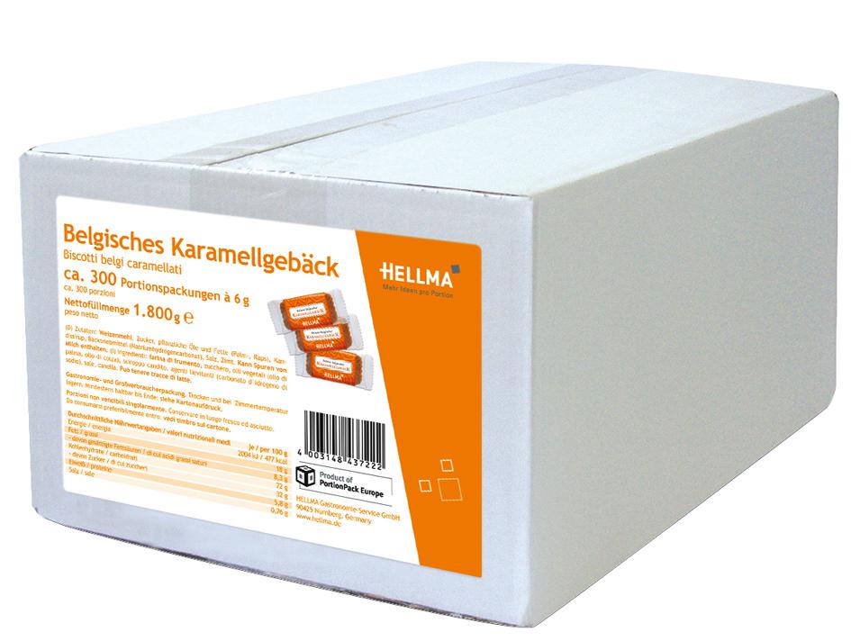 HELLMA Feines belgisches Karamellgebäck, im Karton