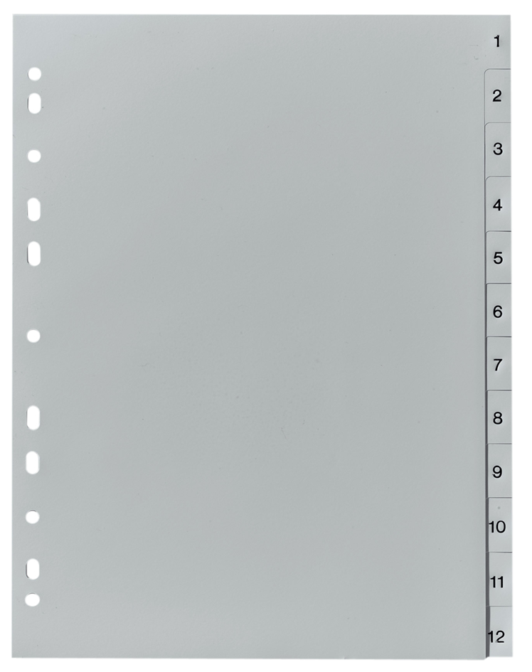 herlitz Kunststoff-Register, Zahlen, A4, 10-tei...