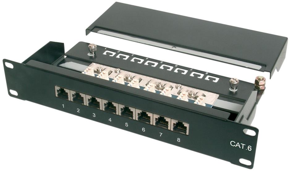 DIGITUS 10´ Patch Panel Kat.6, Klasse E, 12 x R...
