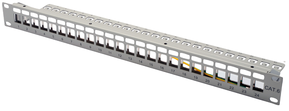 DIGITUS 19´ Modular Patch Panel für Keystone Mo...