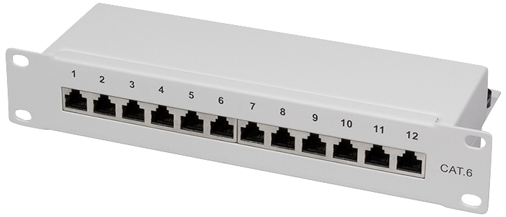 LogiLink 10´ Patch Panel Kat. 6, geschirmt, 12 ...