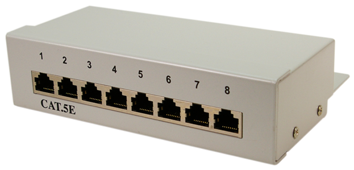 LogiLink Desktop Patch Panel Kat. 5E, geschirmt...
