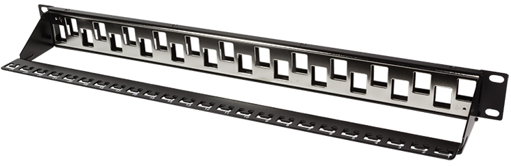 LogiLink 19´ Keystone Patch Panel, 24 Port, sch...