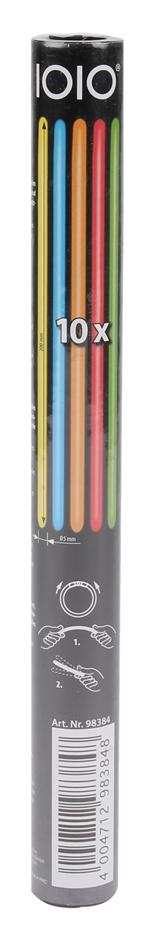 IOIO Neon-Knick-Leuchtsticks FLS 30221, 10er Pack