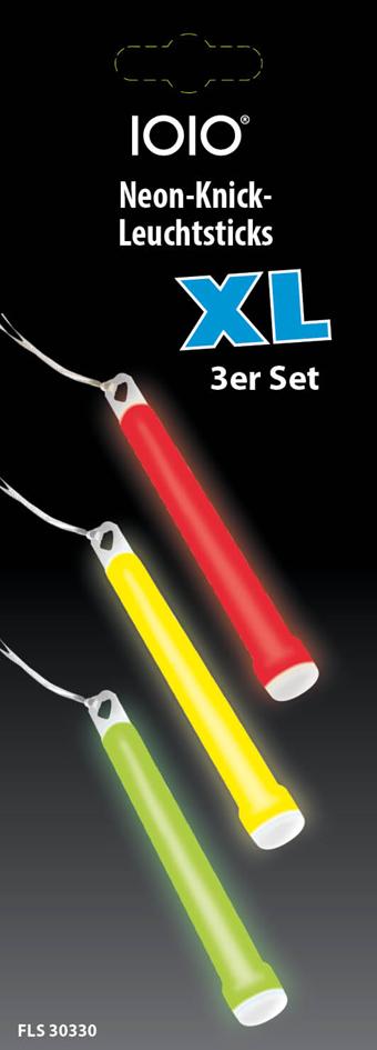 IOIO Neon-Knick-Leuchtsticks XL FLS 30330, 3er Pack