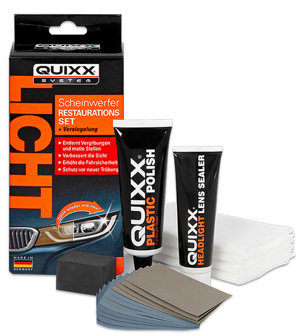 QUIXX KFZ-Scheinwerfer-Restaurations-Kit, 19-teilig
