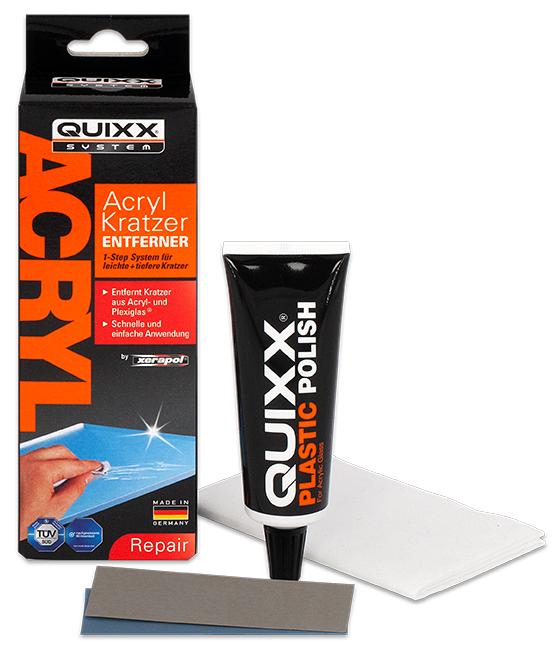 QUIXX Kratzer-Entferner, für Acrylglas, 4-teilig