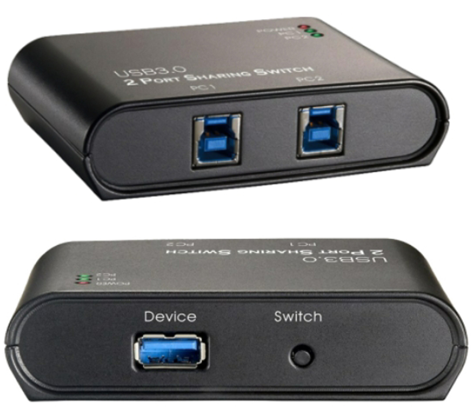 EXSYS USB 3.0 Umschalter, 2 Ports, ohne Netzteil