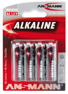 ANSMANN Alkaline Batterie ´RED´, Mignon AA, 4er Blister