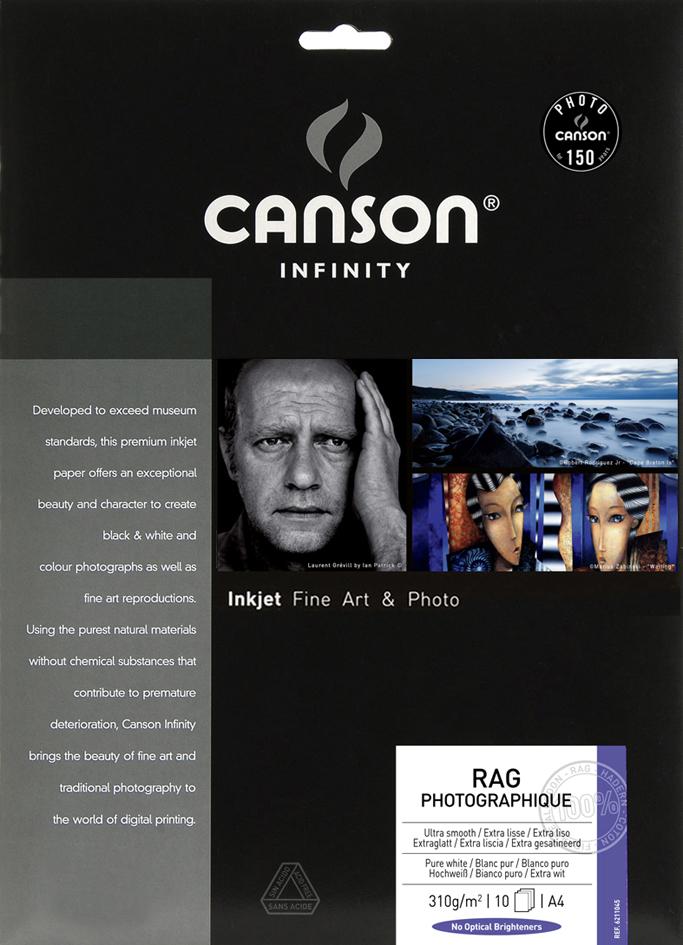 CANSON INFINITY Fotopapier Rag Photographique, 210 g/qm, A4