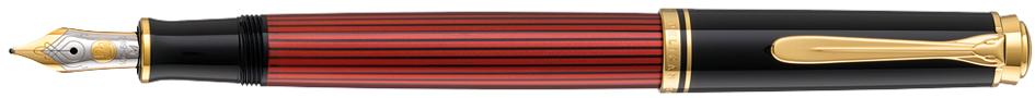 Pelikan Füllhalter , Souverän 600, , schwarz/rot, B