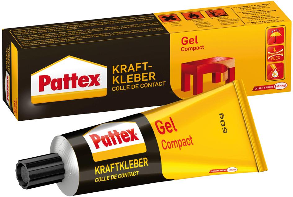Pattex Kraftkleber Gel Compact, lösemittelhaltig, 50 g Tube