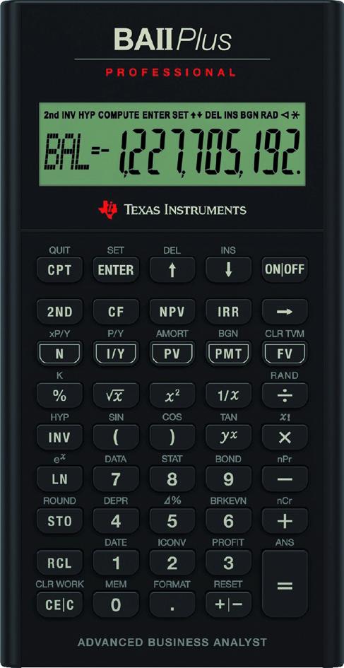TEXAS INSTRUMENTS Finanzrechner TI-BA II Plus professionell