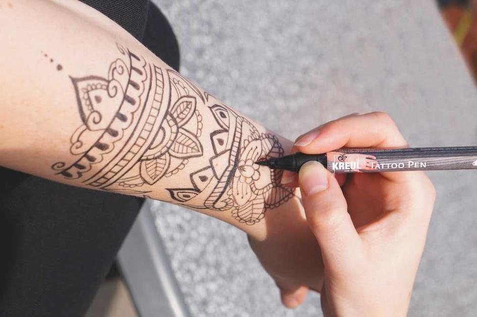 KREUL Tattoo Pen Hobby Line, blau