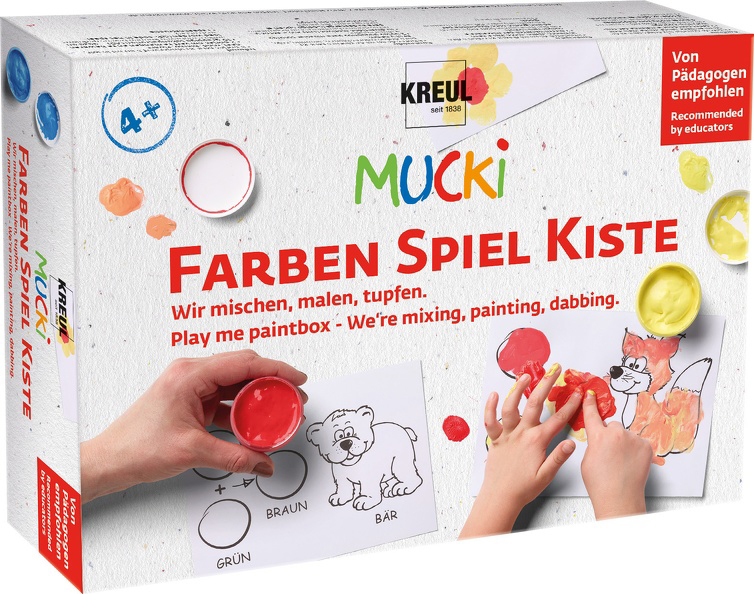 KREUL Fingerfarbe ´MUCKI´, 5 x 50 ml Set