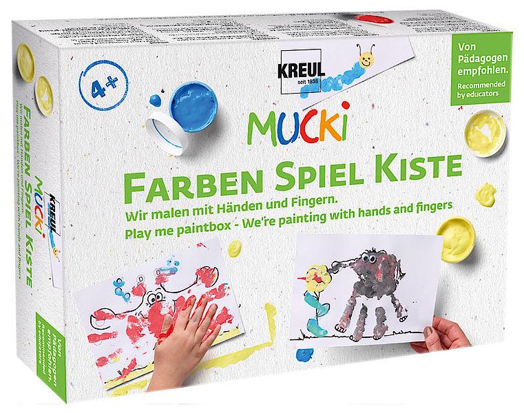 KREUL Fingerfarbe ´MUCKI´, 5 x 50 ml Set