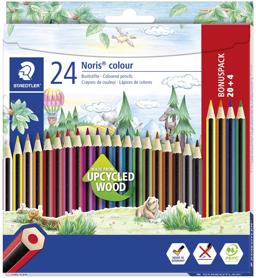 STAEDTLER Buntstift Noris Colour WOPEX, 24er Kartonetui