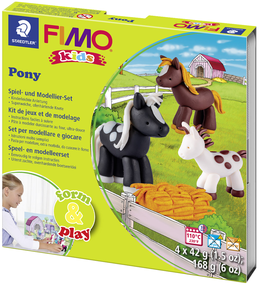 FIMO kids Modellier-Set Form & Play ´Pony´, Level 2