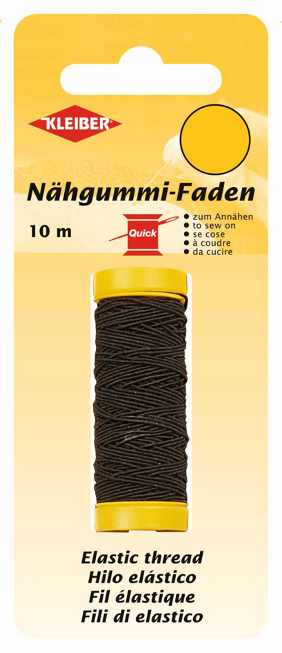 KLEIBER Nähgummi-Faden, 10 m, schwarz