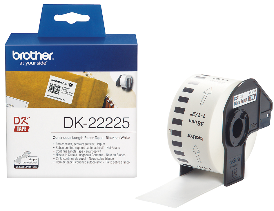 brother DK-22214 Endlos-Etiketten Papier, 12 mm x 30,48 m