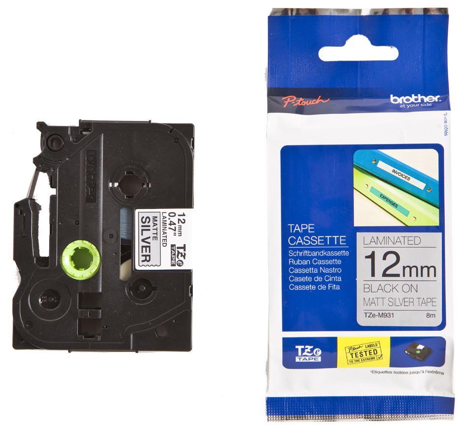 brother TZe-Tape TZe-721 Schriftbandkassette, Bandbreite:9mm