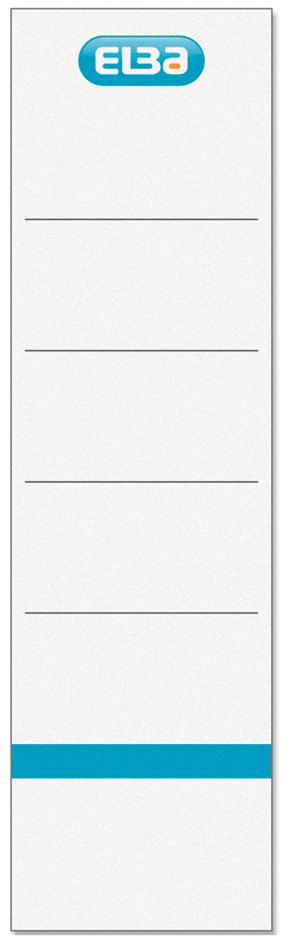 ELBA Ordnerrücken-Einsteckschild, kurz/breit, weiß