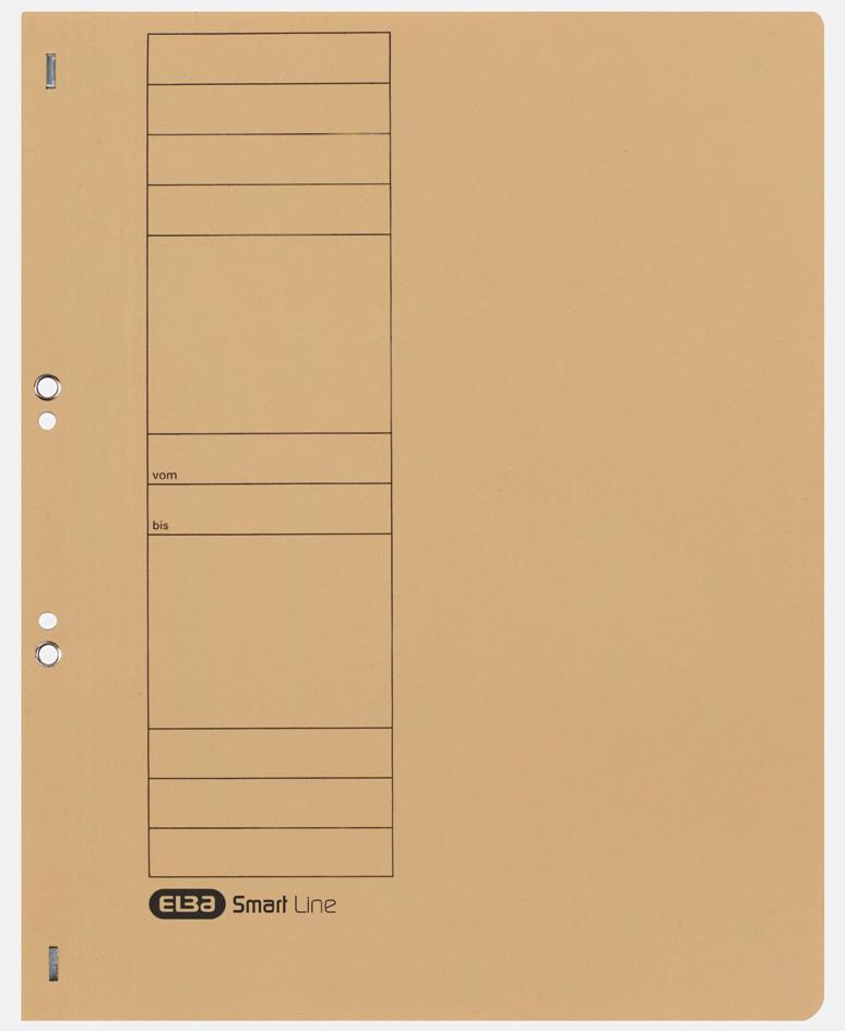 ELBA Ösenhefter aus Karton, grau, voller Vorderdeckel