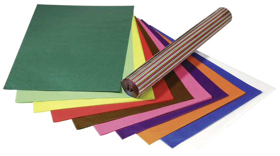 folia Transparentpapier, (B)500 x (H)700 mm, 42 g/qm, farbig