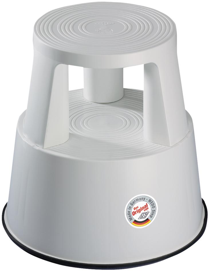 WEDO Rollhocker, aus Kunststoff, lichtgrau / RAL 7035