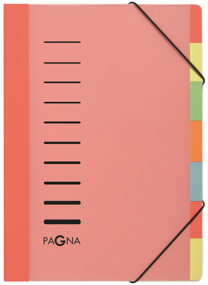 Pagna Ordnungsmappe Deskorganizer mit 12 Fächern rot WOW