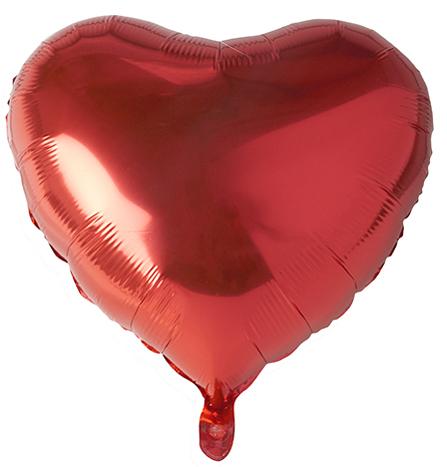 PAPSTAR Folienballon , Heart, , Durchmesser: 450 mm, rot